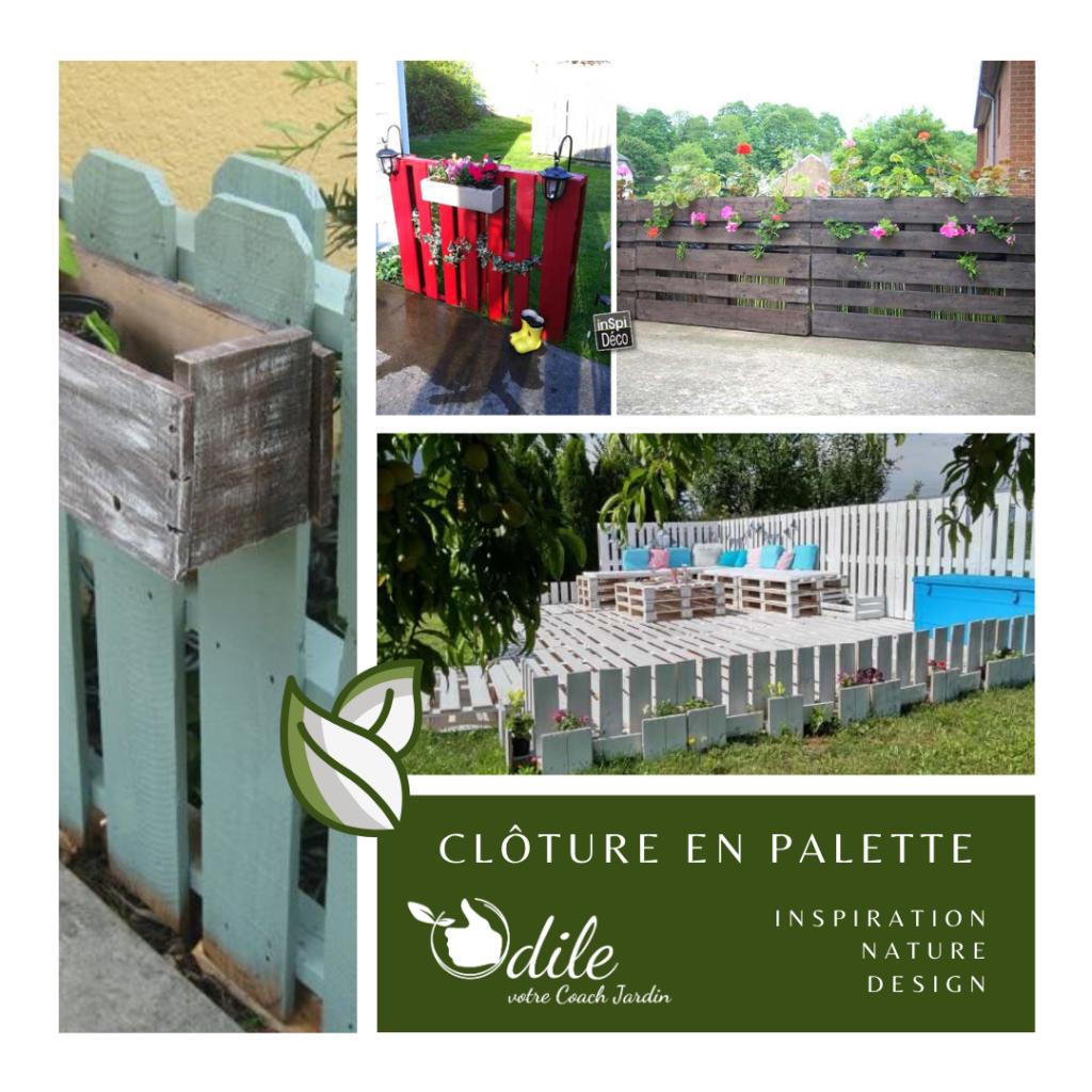 clôture en palette