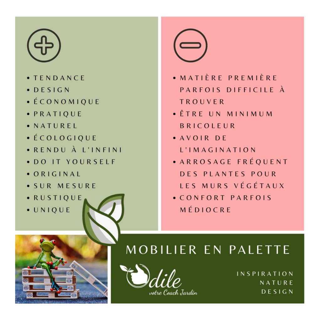 Mobilier en palette : avantages et inconvénients
